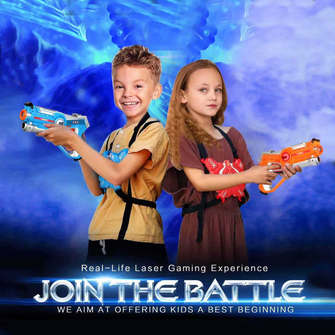 Laser Tag Guns Sets, Super Joy Infrared Laser Tag Sets with 4 Guns and 4 Vests, Laser Tag Gun Toys Indoor Outdoor Game for Boys Girls by Super Joy (Image #6)