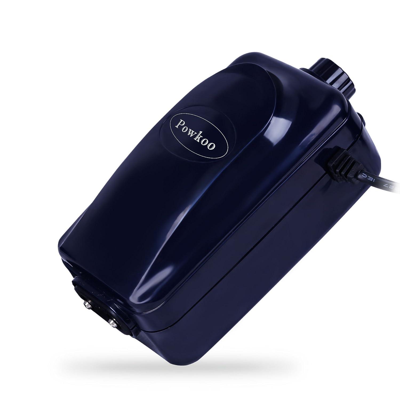 Powkoo 超静かで高効率の調節可能な水族館の空気ポンプ魚タンクの酸素空気ポンプ (2 Outlet) B0714J5HNQ  2 Outlet
