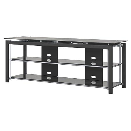 Bush Furniture Midnight Mist 65W TV Stand for Flat Screens in Black