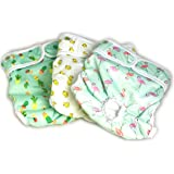 Luxury Reusable Dog Diapers (3-Pack) - [NEW Pattern] Durable Dog Wraps Nappies for Both Male and Female Dogs, Cats, Rabbits and Other Small Animals by Pet Magasin