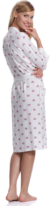 Italian Fashion IF Bata para Mujer Aries (Ecru/Baya, L): Amazon.es: Ropa y accesorios