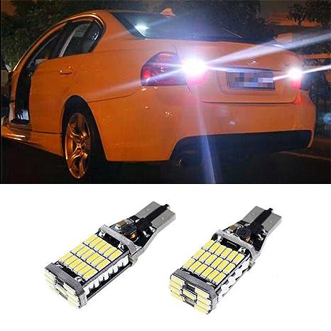 FEZZ Bombillas LED Coche CANBUS T15 W16W 921 4014 45SMD para Luz Reserva Freno Luces Traseras
