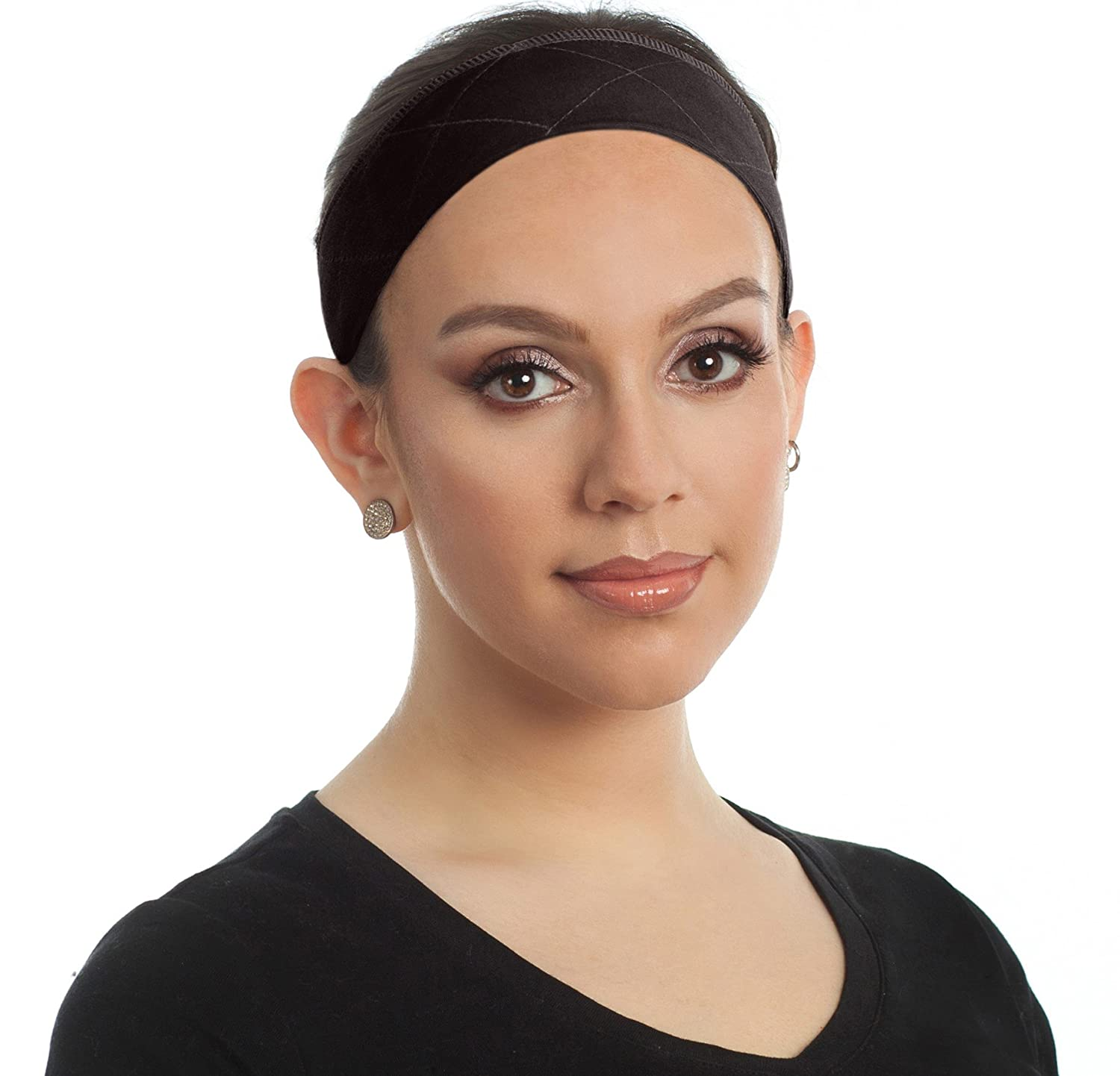 Beaugee Wig Grip Headband, Bundle with Free Comb - Adjustable Comfort Head Hair Band for Women - Velvet Material - Velcro Closure - Non Slip, Keeps Wig Secured - Prevents Headaches & Hair Loss (Beige) B072ZBFYZ6