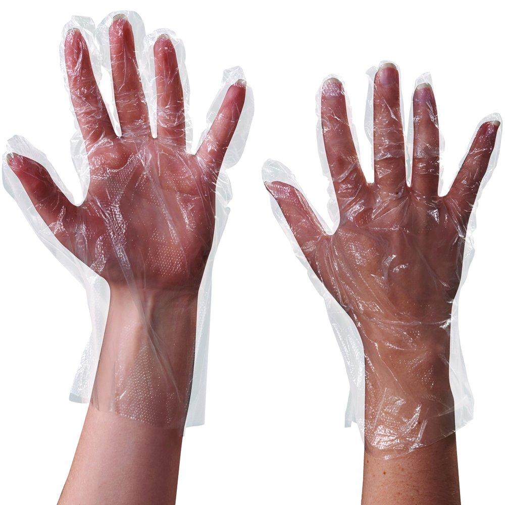 Aviditi GLV2220 Clear Poly Gloves, 1 Mil (Case of 1000)