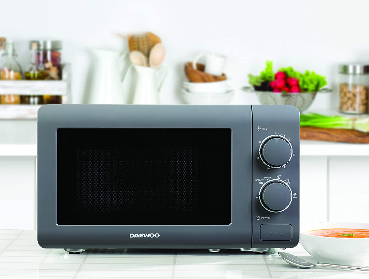 Cooking End Signal and Defrost Function 220-240v Daewoo 20L Manual ...