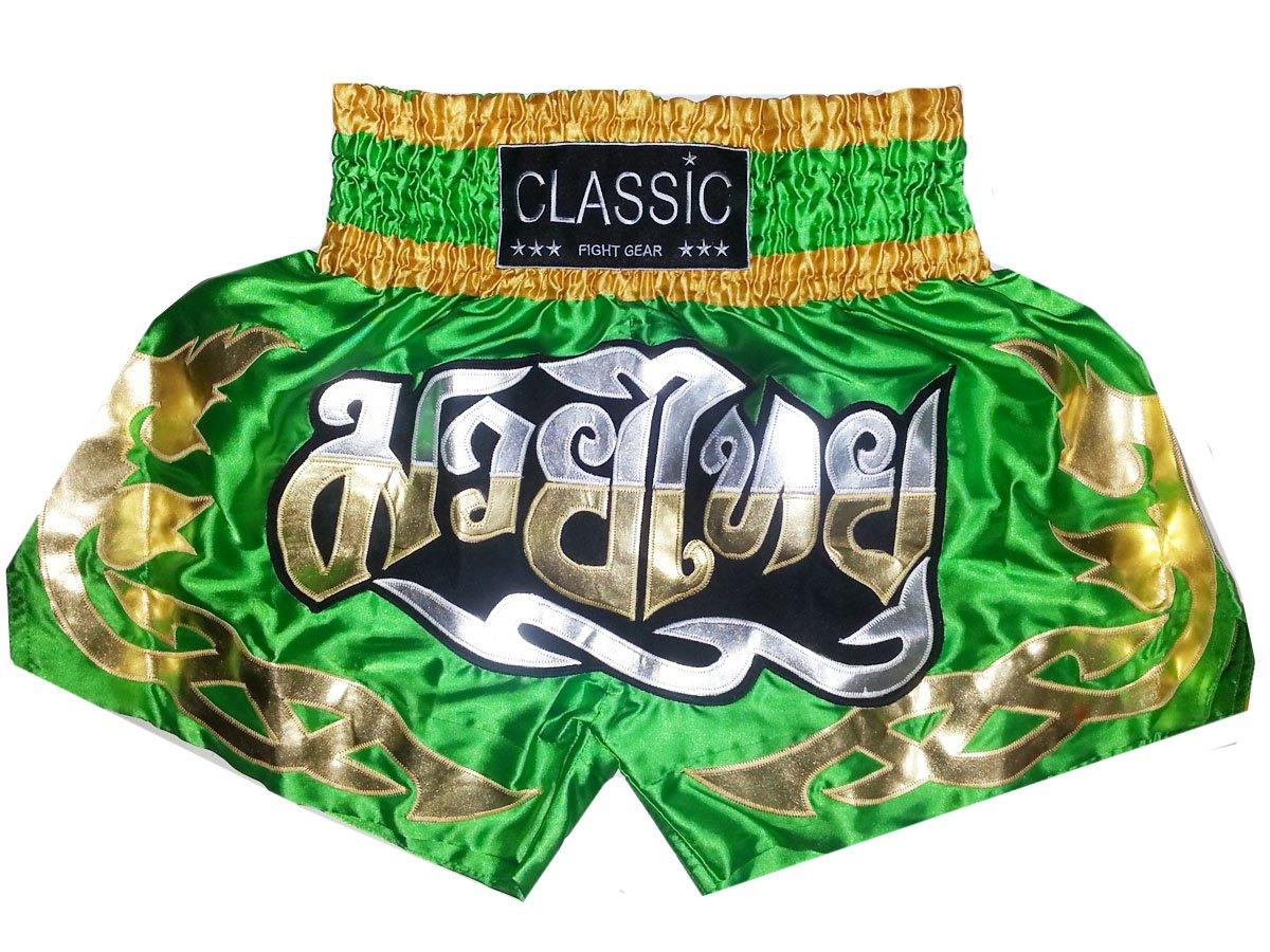 Classic Muay Thai Box Hose, Thaishort Thaiboxhosen : CLS-003 Größe XXL