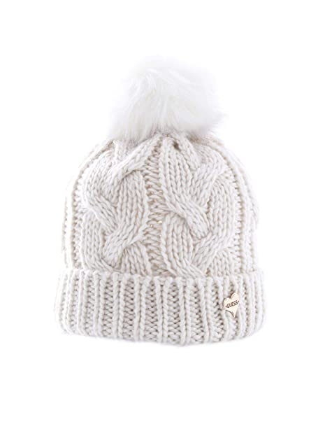 Guess Luxury Fashion AW8247WOL01WHITE - Sombrero para mujer, color ...