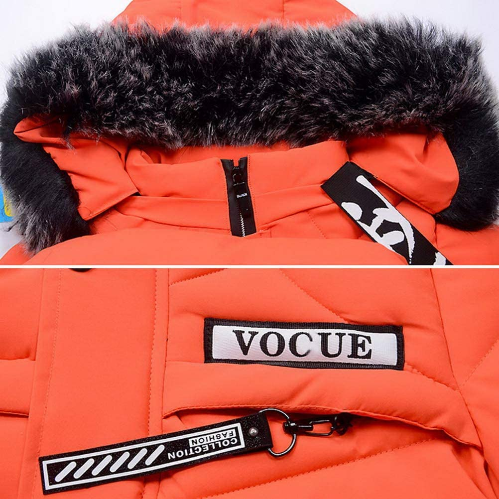 Odziezet Baby Boy Down Coat Kids Hooded Puffer Zipper Jacket Winter Outerwear Clothes 2-7 Years