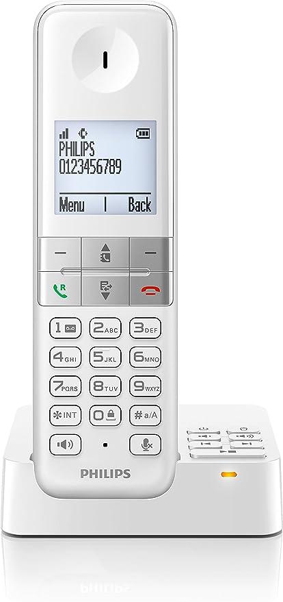 Philips D4552W - Teléfono fijo digital (pantalla de 1.8