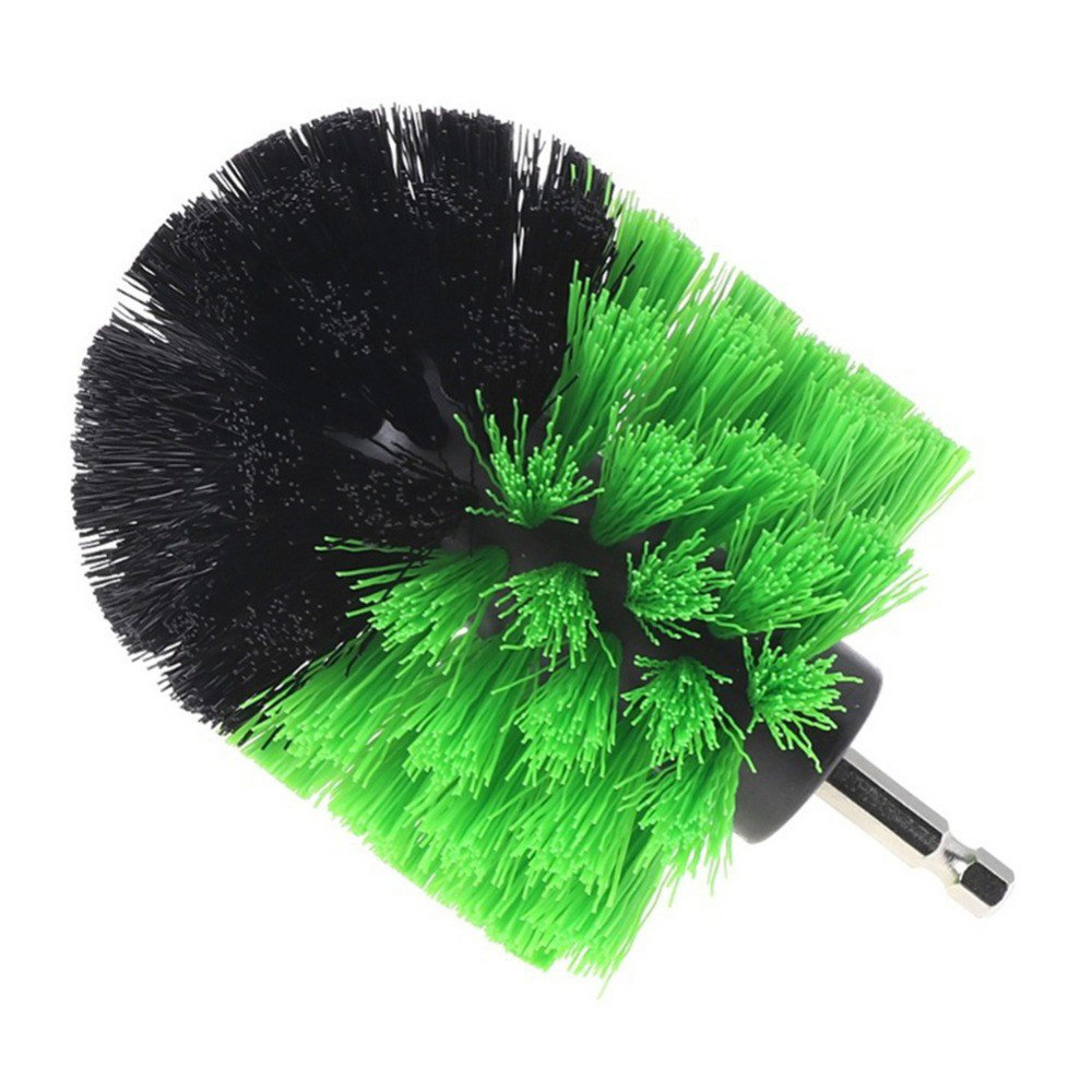 Scrub Brush Drill Attachment Kit Power Scrubber Cleaning Brush Nylon Bristles Bathroom Accessories for Grout Bathtub Shower Surfaces Carpet (M)