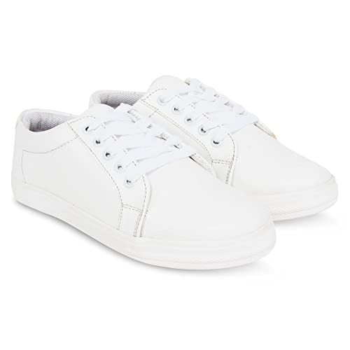 e8519f5e5819 ajay footwear Krafter Women White Sneakers Shoes  Buy Online at Low Prices  in India - Amazon.in