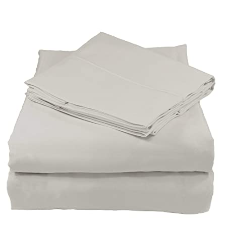 Juego de sábanas Whisper Organics, 100 % algodón ecológico, 500 hilos, 4 piezas:sábana encimera, sábana bajera y 2 fundas de almohada.: Amazon.es: Hogar