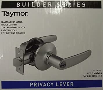 Taymor 36-3603SC Privacy Lever Door Handle Satin Chrome & Taymor 36-3603SC Privacy Lever Door Handle Satin Chrome - Other ...