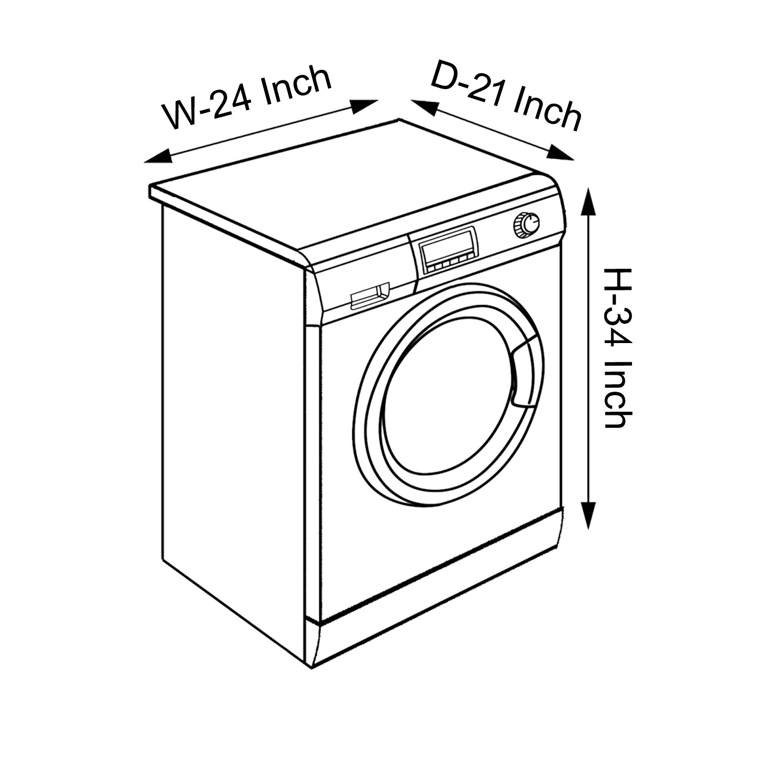 Dream Care Maroon Colored Washing Machine Cover For Ifb Frontload Wiring Diagram Senorita Sx 6kg Model Home Kitchen