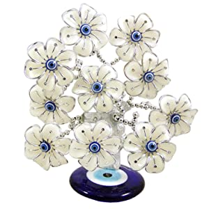 Needzo Evil Eye Flower Tree for Protection and Good Luck, 7 1/2 Inch