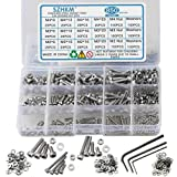 SZHKM 850pcs Stainless Steel Nuts and Bolts Assortment Metric Machine Screws Set M2 M3 M4 Screws Assorted Hex Bolts and Nuts