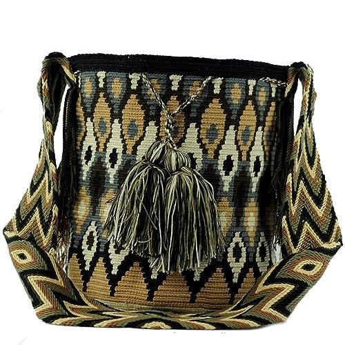 Wayuu Mochila Bags Bolso - Mochila grande - diseño - 3340: Amazon.es: Zapatos y complementos