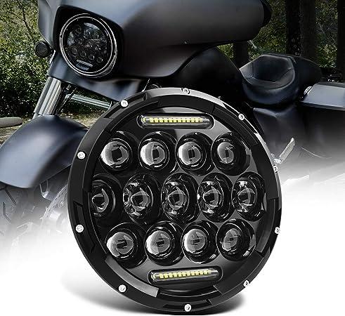 Feu de position LED pour moto Noir