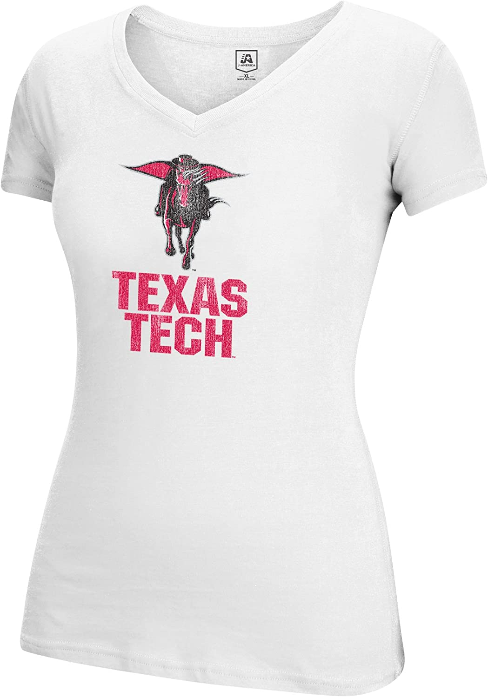 White X-Large J America NCAA Texas Tech Red Raiders Adult Women Large Mascot Essential Tee