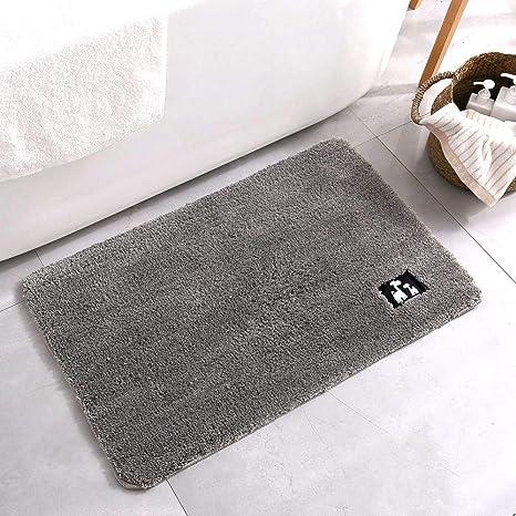 LIUQIAN Micro-algodón Alfombra baño Antideslizante Ventosa ...