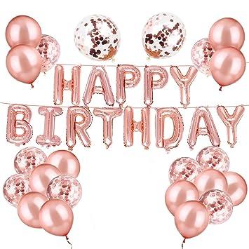 Amazon.com: Luckypopy - Globos de confeti para cumpleaños ...