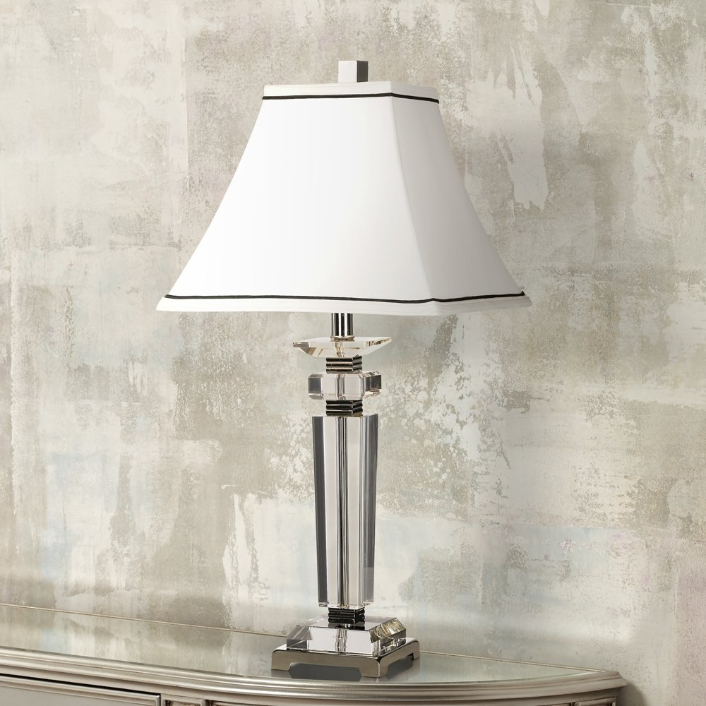 Vienna full spectrum square crystal column table lamp amazon aloadofball Choice Image