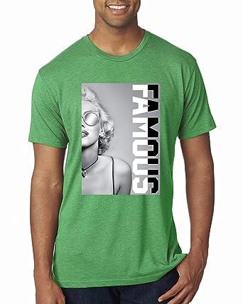 19fd26b6e Marilyn Famous Savage Rockstar   Mens Streetwear Premium Tri Blend T-Shirt,  Envy,