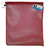 Cheap JCS Nylon Mesh Drawstring Bag, Small, Approx. 15inch x 20inch, Red