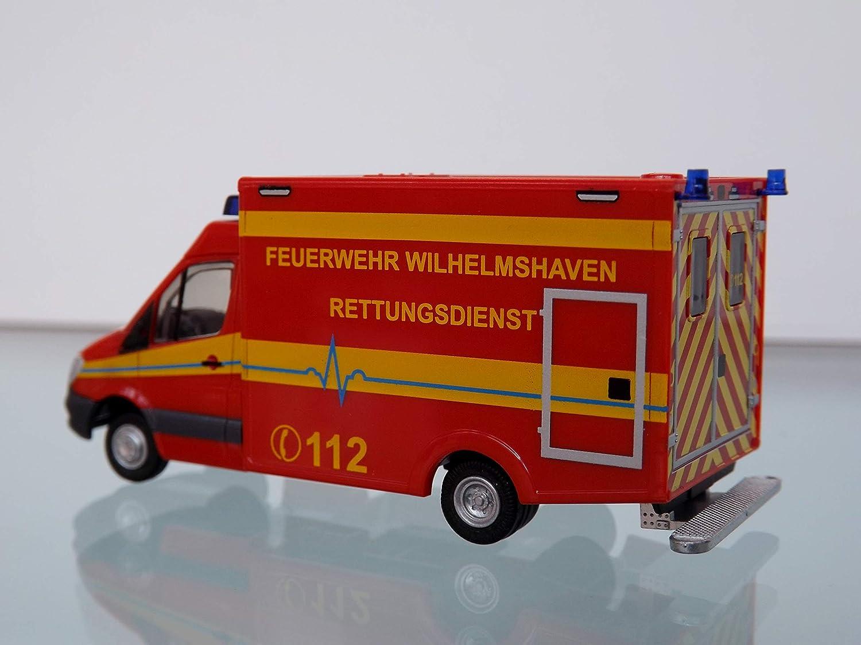 Rietze MB Sprinter WAS RTW Facelift FW Wilhelmshaven 61733
