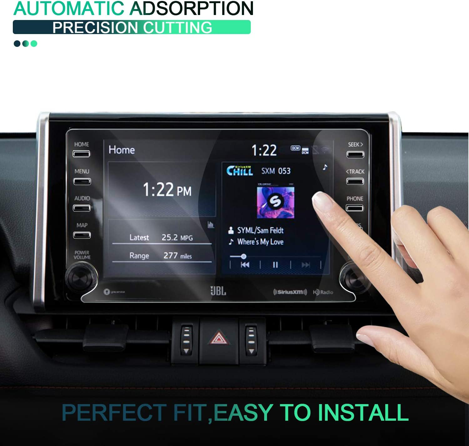 Toyota RAV4 Accessories Screen Protector Cover Compatible for Toyota RAV4,9H Anti-Blue Light Anti Glare for 2019 2020 RAV4 Screen Protector 7-Inch