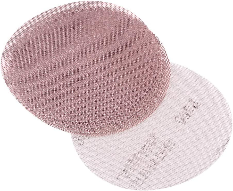 uxcell Mesh Sanding Discs 5 Inch 600 Grit Hook and Loop Grip Disc 5pcs