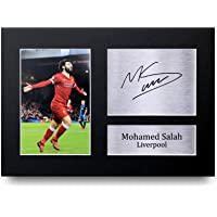 HWC Trading Mohamed Mo Salah Gifts Signed A4 Printed Autograph Liverpool Gift Print Photo Picture Display