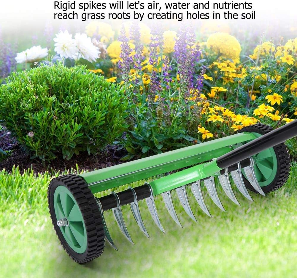 Spiked Type EBTOOLS Manual Scarifier Outdoor Garden Lawn Aerator with Detachable 112.5cm Long Handle