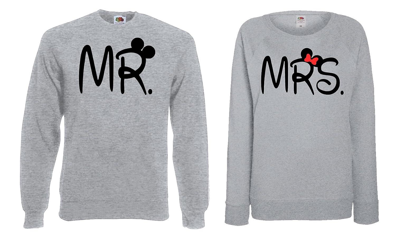 TRVPPY Partner Herren + + + Damen Pullover Sweater   Modell  MR & MRS    in vielen versch. Farben B0778SV15R Pullover Einfaches Leben b29f4a