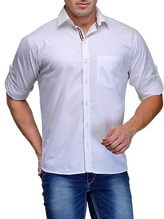 81c48957e0 Tsx Men s Cotton Casual Shirt(TSX-SHIRT-1-XXL White)  Amazon.in ...
