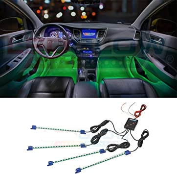 4 x 12 LED neon interior footwell decor lights strip lamp For Renault Cars