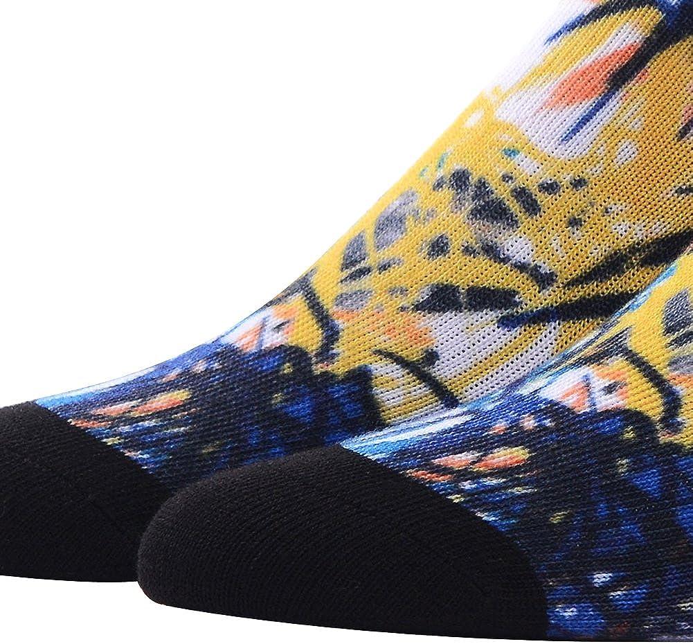 Mens Novelty Socks MEIKAN Digital Printing Funky Patterned Crew Socks 3 4 5 6 Pairs