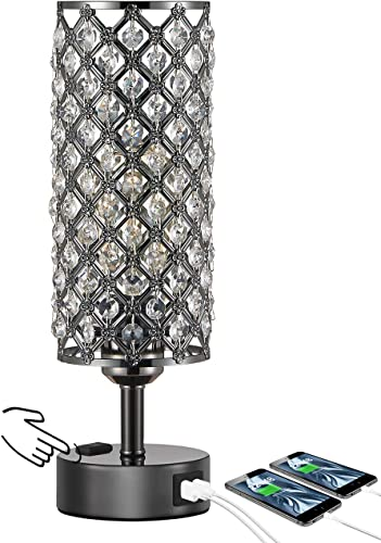 Touch Control Crystal Table Desk Lamp