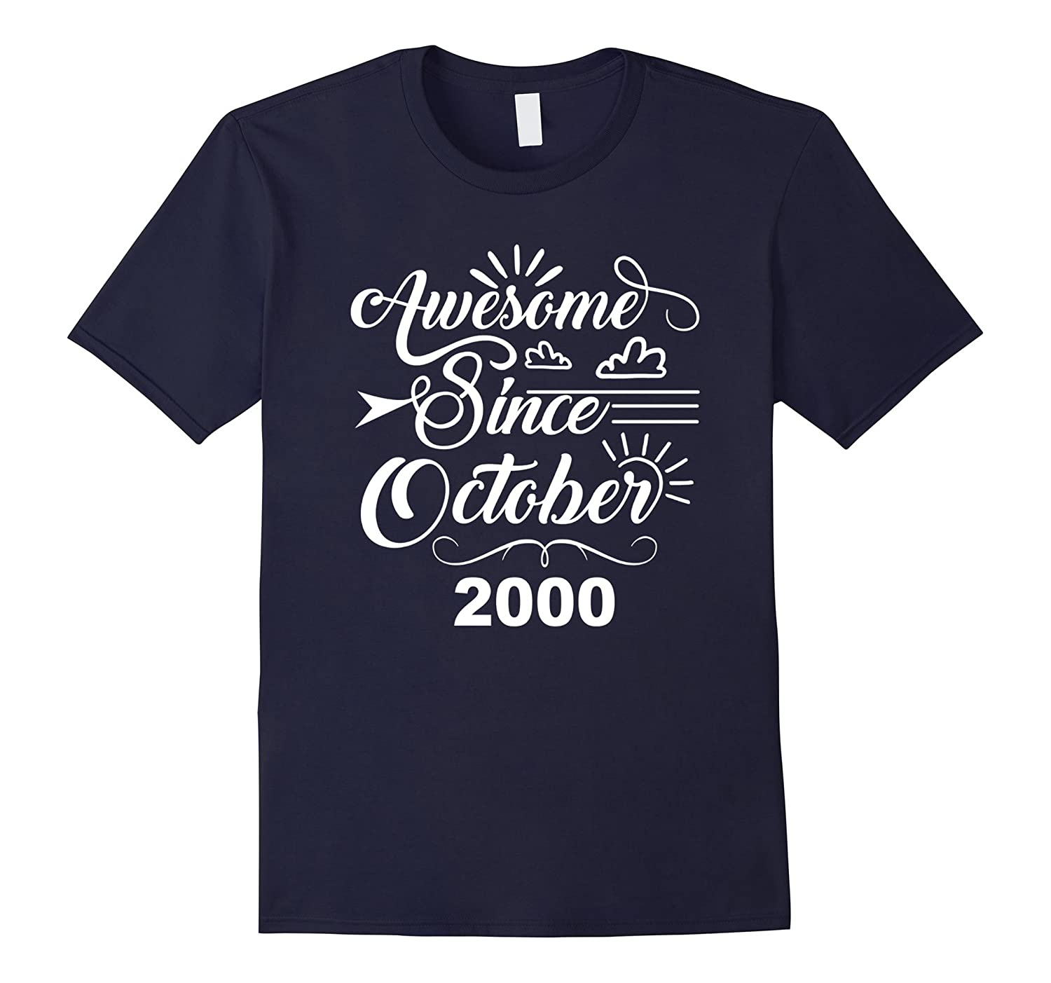 17th Birthday Gifts - Awesome Since October 2000 T-shirt-TJ