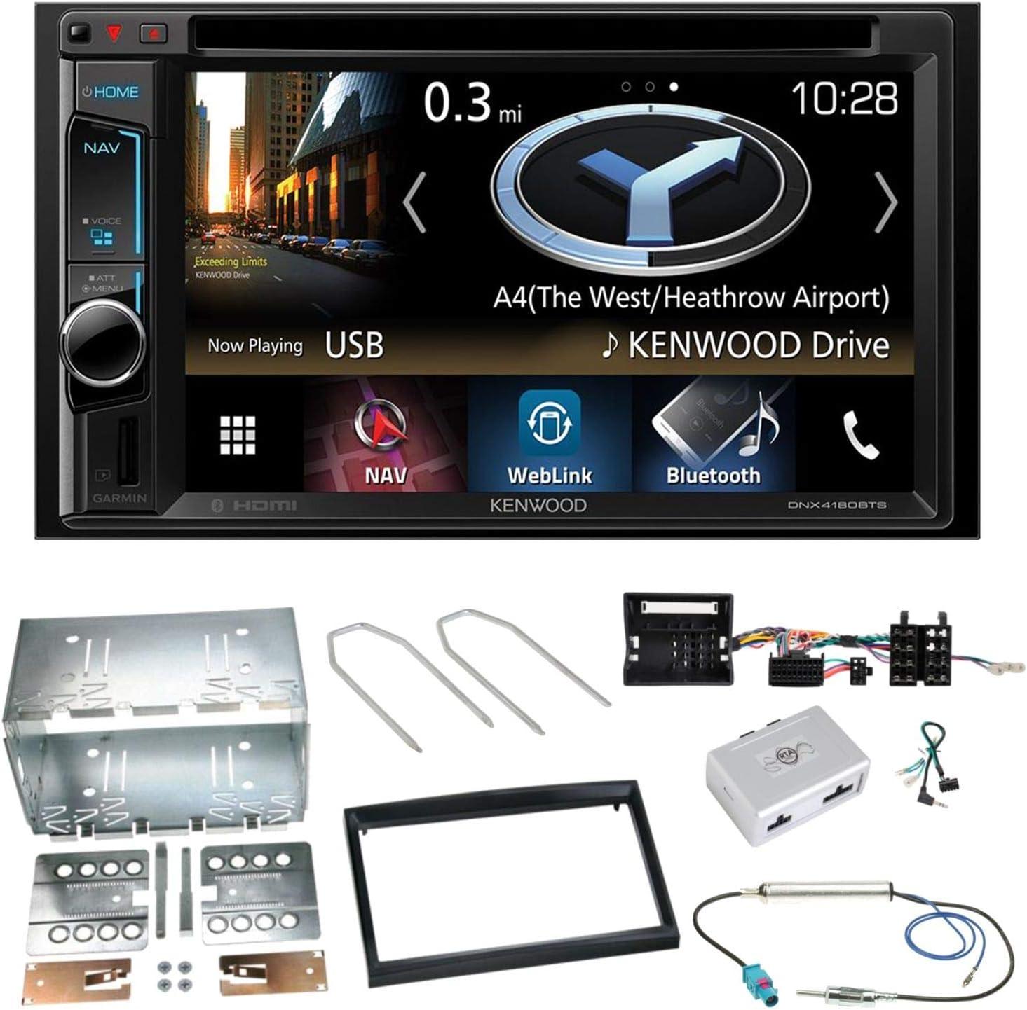Kenwood Dnx 4180bts Navigation Naviceiver Bluetooth Carplay Usb Cd Dvd Autoradio Flac Doppel Din Einbauset Für Citroen C2 C3 Berlingo Jumpy