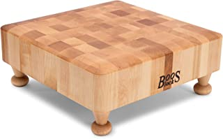 product image for John Boos Block MPL121203S-MTBF Raised Maple Wood Square End Grain Chopping Block with Tapered Feet, 12 Inches x 12 Inches x 3 Inches