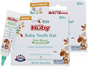 Dr. Talbot's Natural Baby Tooth Gel for Sore Gums, 2 Pack, 1.06 Oz, benzocaine Free, Belladonna Free