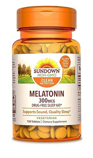 Amazon.com: Sundown Melatonina 300 mcg, 120 tabletas (el ...