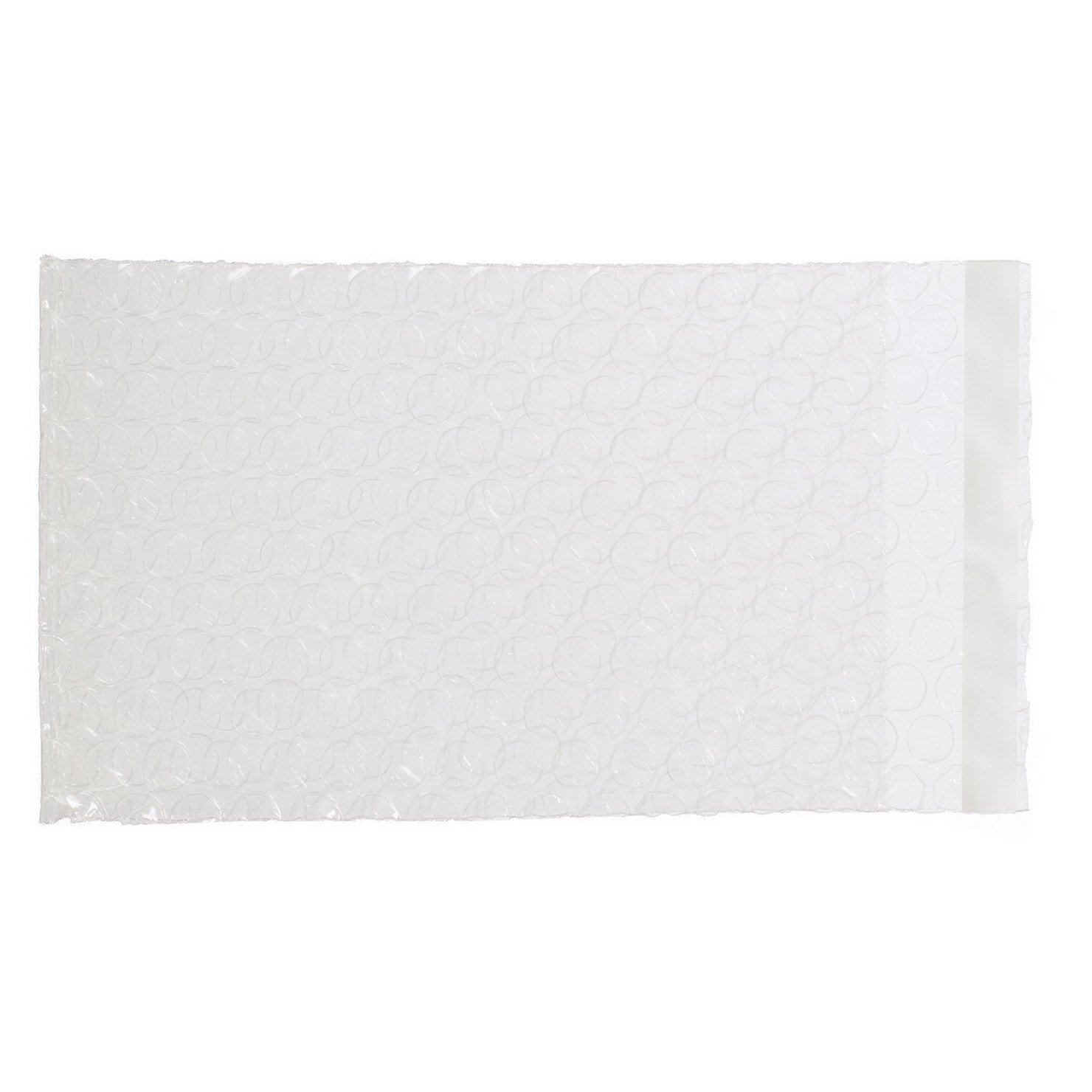 Generic Bubble Bags Smooth on Both Sides Self Sealing 4.5'' x 7''+1'' Pack of 100pcs