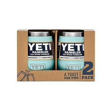 YETI Rambler 10 oz Stainless Steel Vacuum Insulated Wine Tumbler, 2 Pack