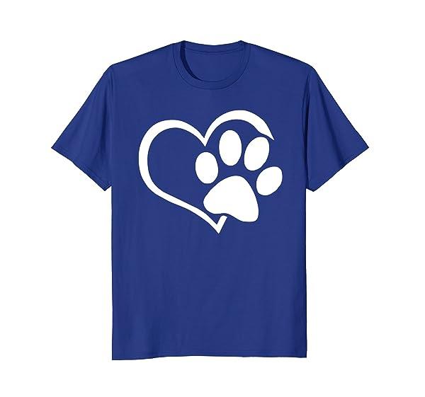 Dog Ca I Love Dogs Paw Print Heart Cute T Shirt