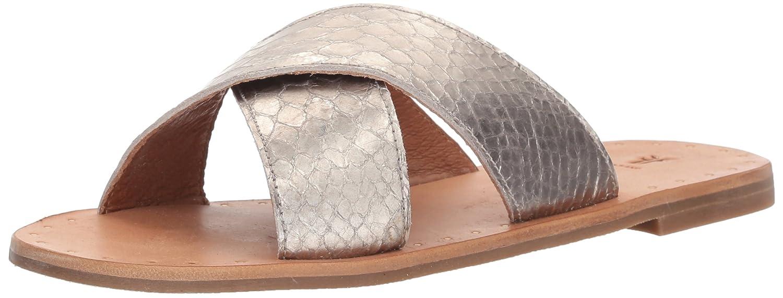 FRYE Women's Ally Criss Cross Slide Sandal B074QTG5RT 6.5 B(M) US|Silver