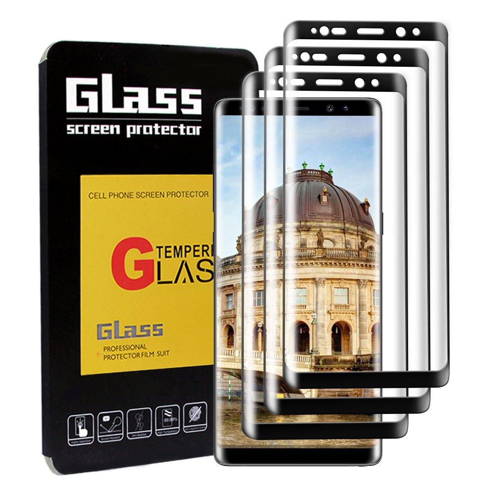 [3-Unidades]Protector de Pantalla Samsung Galaxy Note 8,DEALUY Protector Pantalla de Cristal Templado Para Samsung Note 8, 9H Dureza,0.33mm, Alta Sensible,Alta Definición,Sin Burbujas