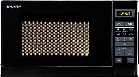 Sharp R-242 BKW Microondas 20L, Control Táctil, 800W, Black, 800 W ...