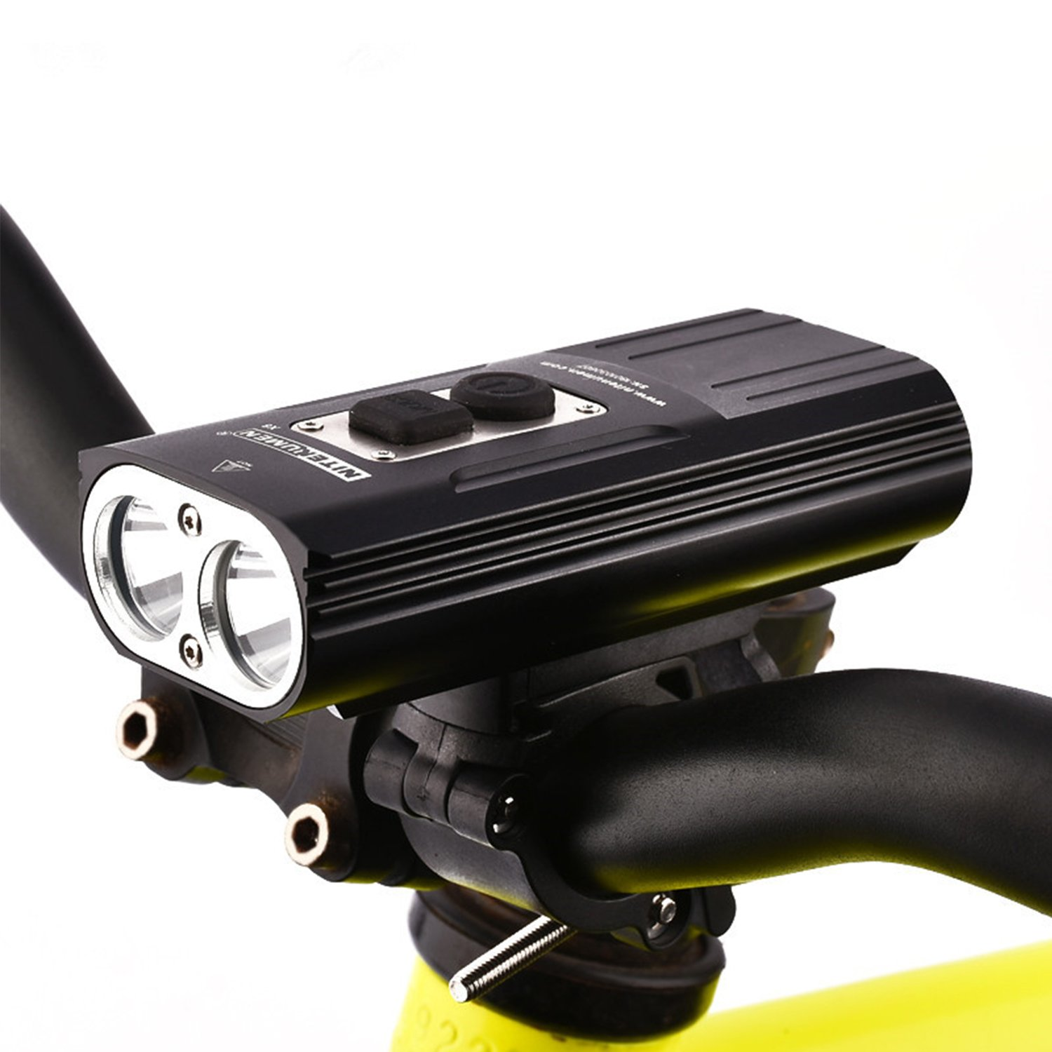 NITENUMEN USB Rechargeable LED Bike Light Max 1800 Lumens Bicycle Headlight 6 Modes Waterproof, Easy to Install for Kids Men Women Road Cycling Safety Commuter Flashlight